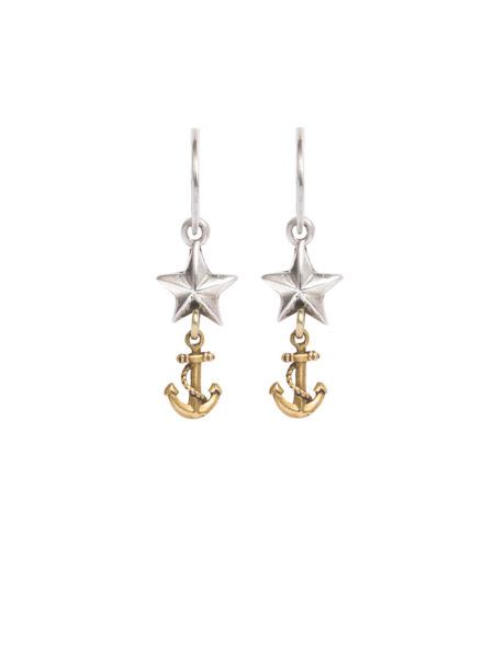 Star And Anchor Earrings