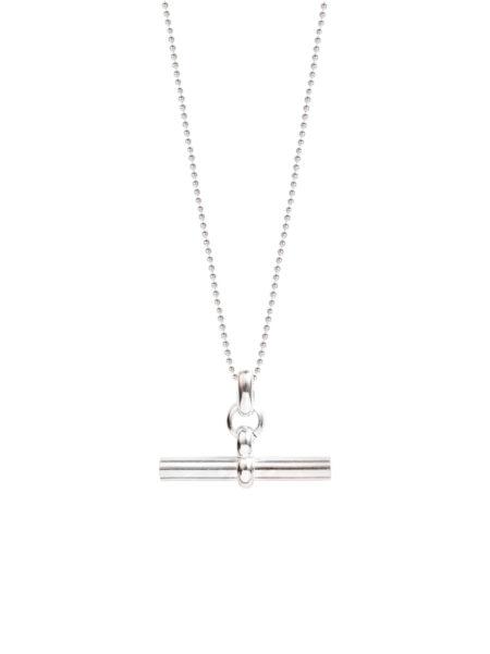 Medium Silver T-Bar On Ball Chain