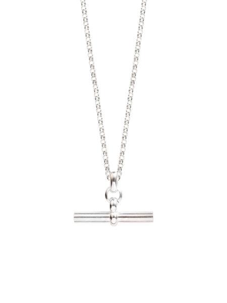 Medium Silver T-Bar On Belcher Chain