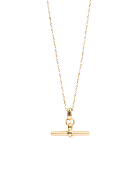 Small Gold T-Bar On Trace Chain