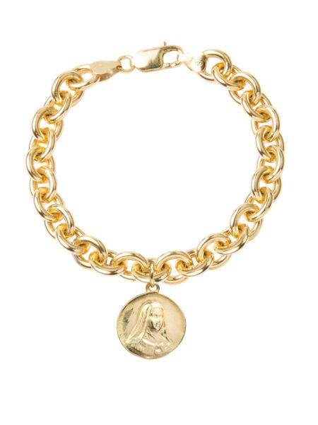 Large Religious Medal Charm Bracelet