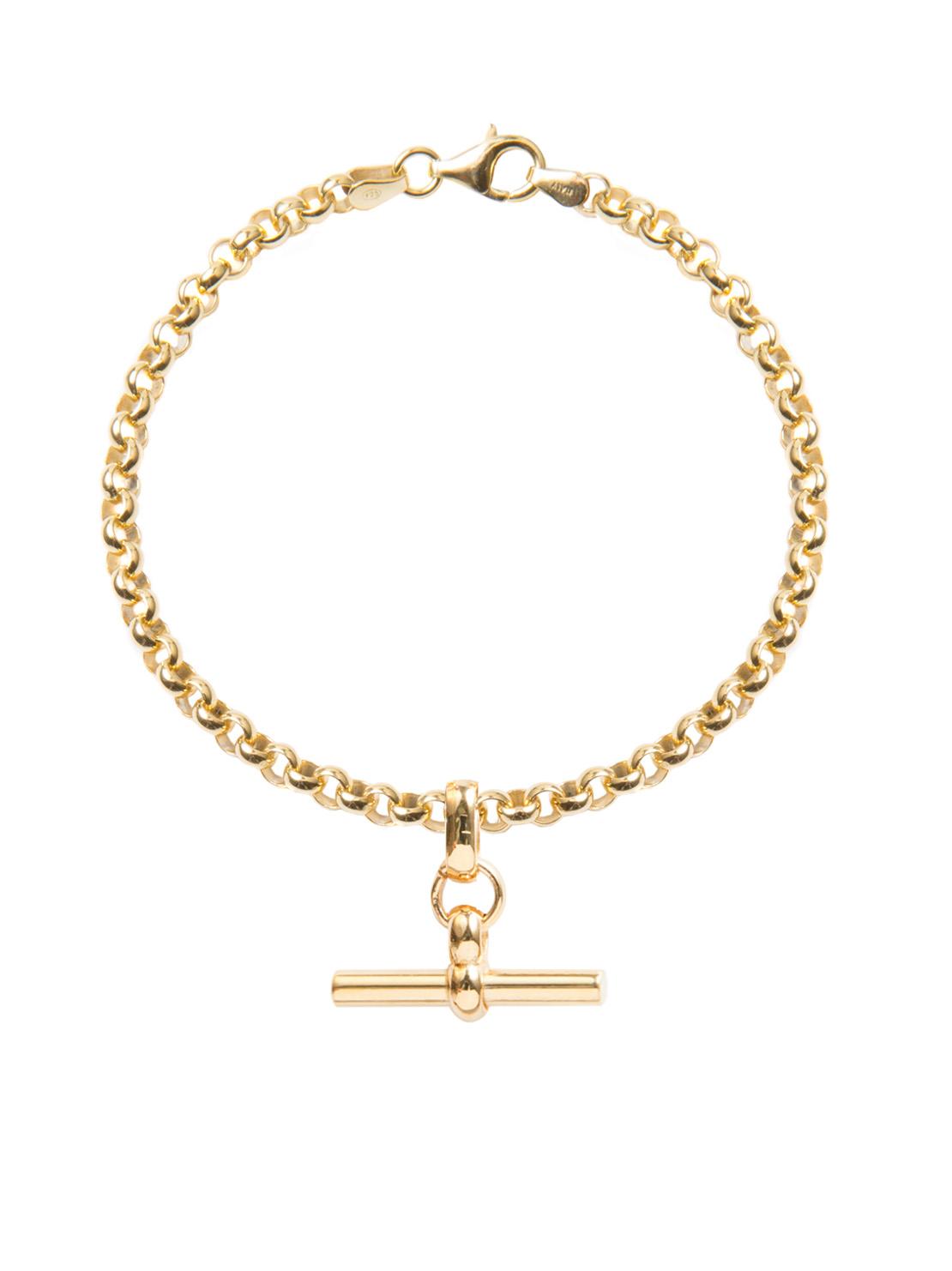dc1fe81f9 Gold Belcher Bracelet With Gold T-Bar - Tilly Sveaas Jewellery