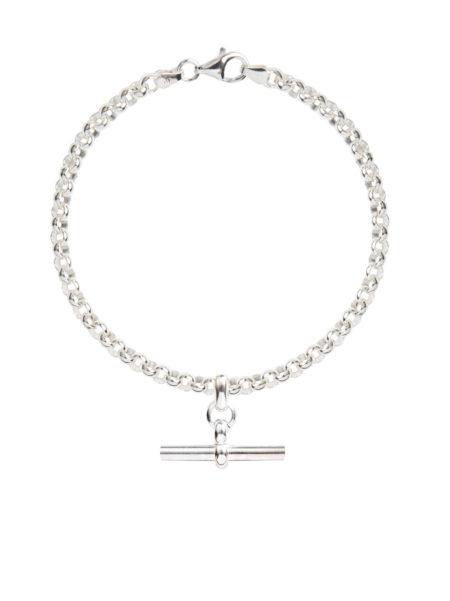 Silver Belcher Bracelet With Silver T-Bar