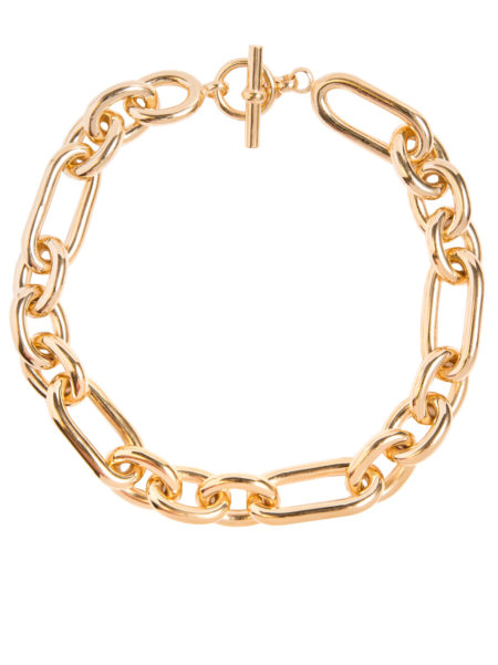 Large Gold Triple Link Necklace