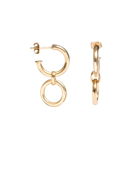 Small Gold Hoop Eternity Earrings