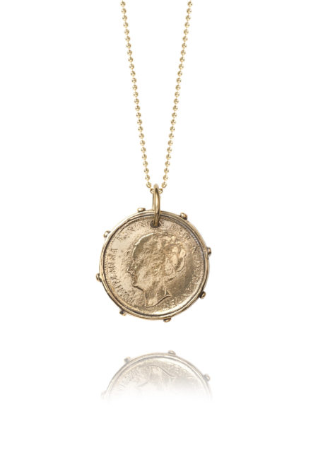 Dutch Coin On Gold Ball Chain