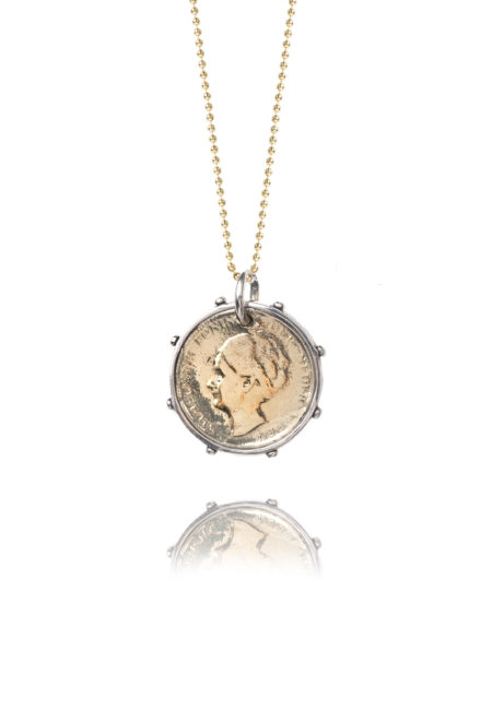 Gold And Silver Dutch Coin Necklace