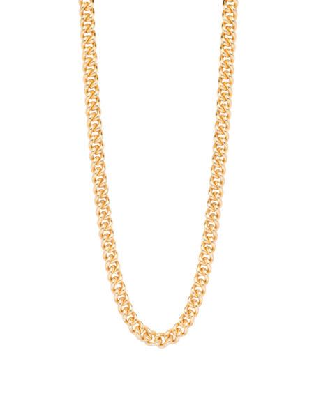 Slim Gold Curb Link Necklace