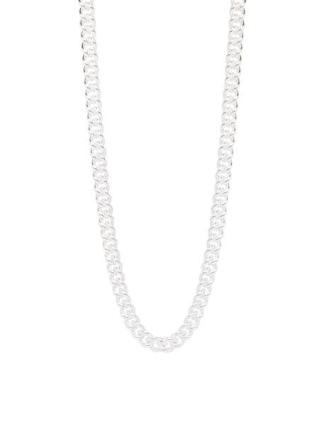 Slim Silver Curb Link Necklace