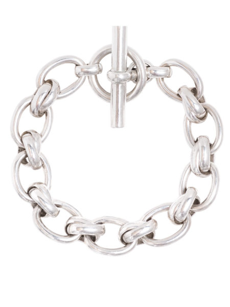 Large Silver Double Link Bracelet