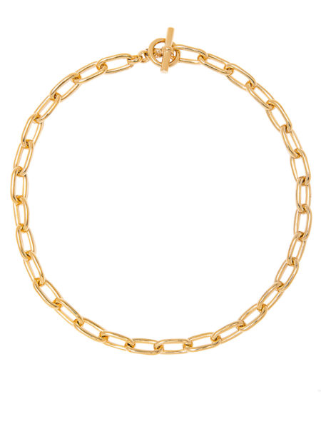 Small Gold Oval Chain Necklace