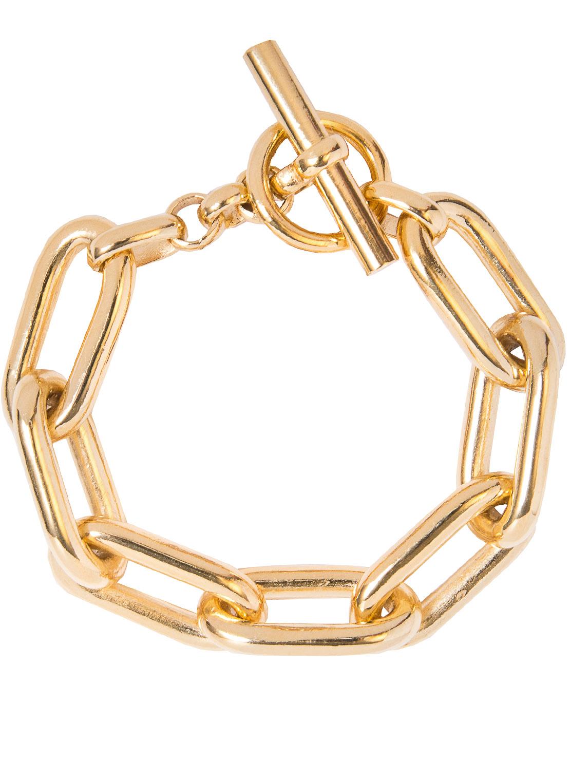 Large Gold Oval Linked Bracelet
