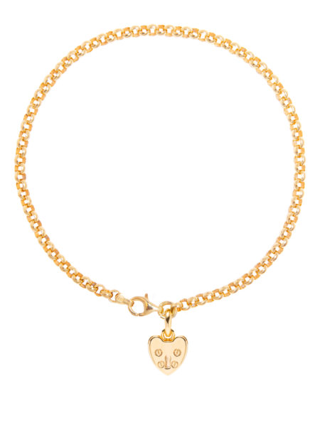 Gold Love Heart Anklet