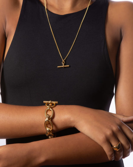 Giant Gold Double Linked Bracelet