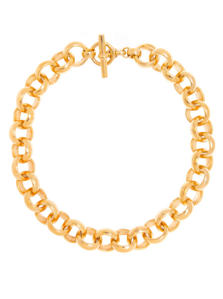 Giant Gold Rolo Link Necklace