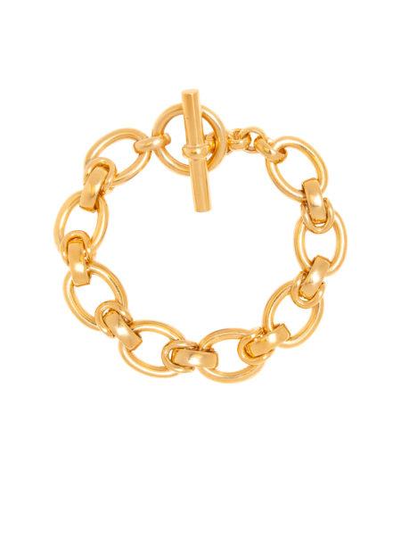 Large Gold Interlock Bracelet