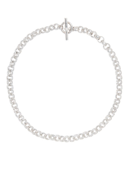 Small Silver Rolo Link Necklace